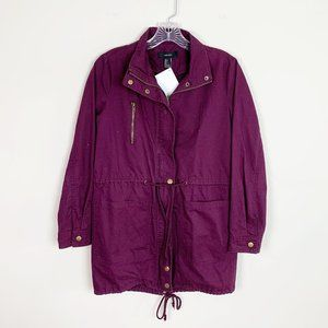 Forever 21 | burgandy utility jacket zip up small